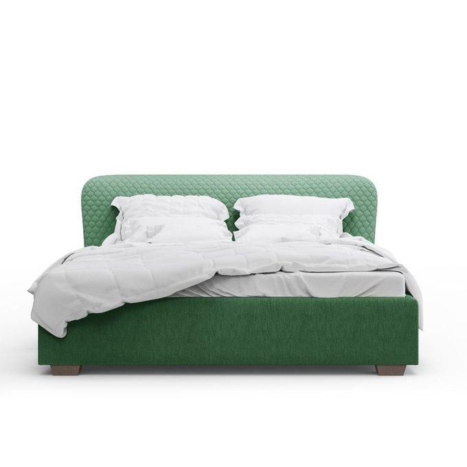 Кровать Венди зеленого цвета 180х200 с подъемным механизмом