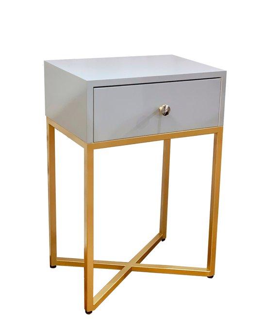 Тумба Пэри с ящиком серого цвета