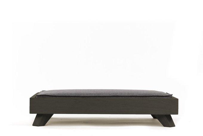 Лежанка для животных Гиппо темно-серого цвета