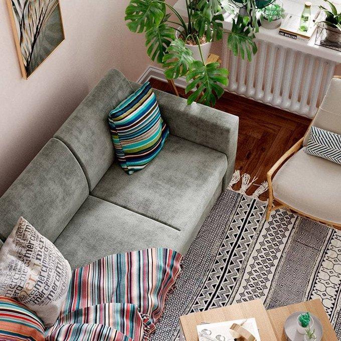Диван-кровать Эмилио бежевого цвета