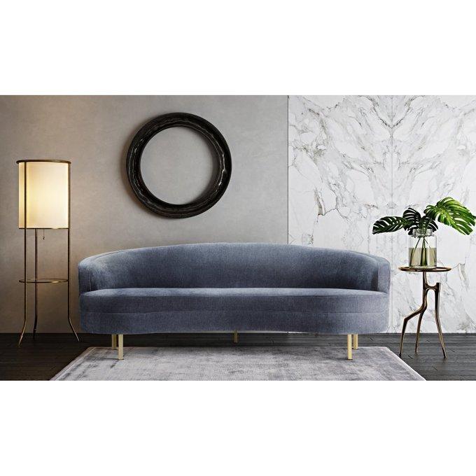 Полукруглый диван Kira серого цвета