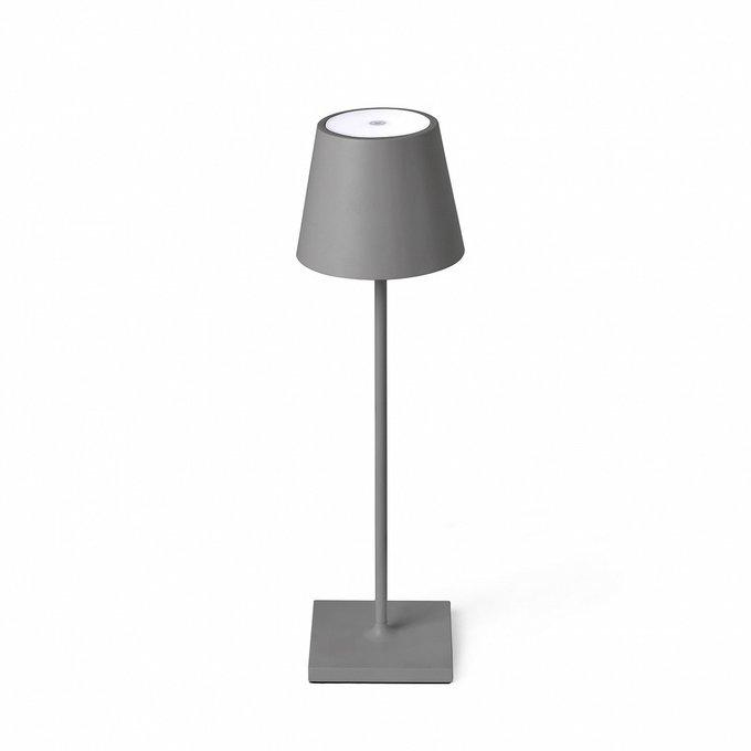 Переносная лампа Toc Portatil Gris с сенсорным включением