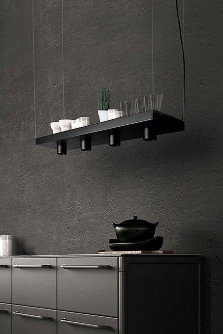 Подвесной светильник  Plant чёрного цвета