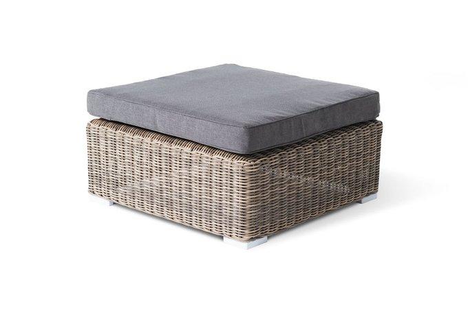Плетенная оттоманка Лунго с подушкой