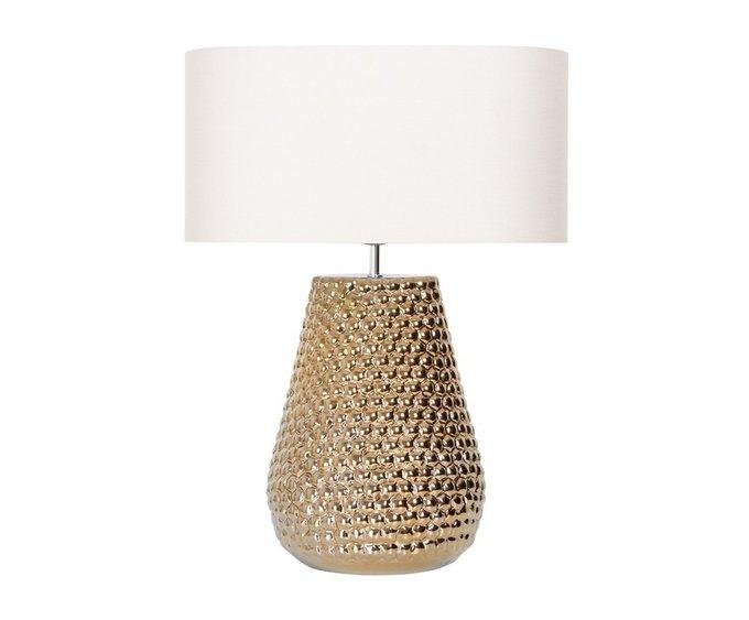 Настольная лампа из керамики бронзового цвета