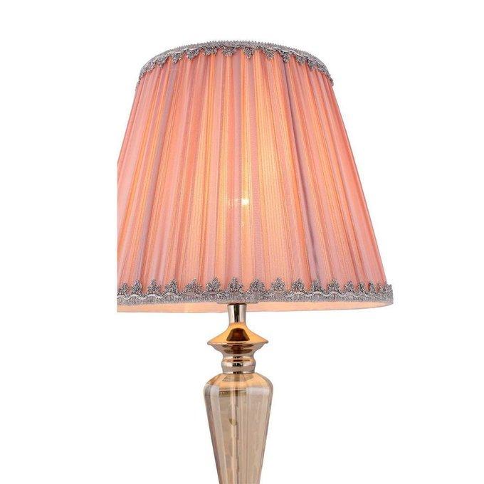 Настольная лампа Vezzo с розовым абажуром