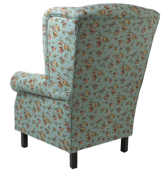 Кресло голубое в цветочек