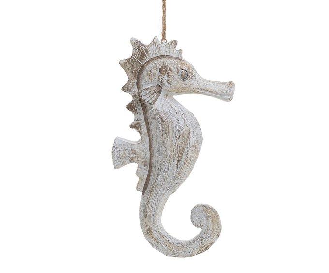 Декор подвесной Морской конек бежевого цвета
