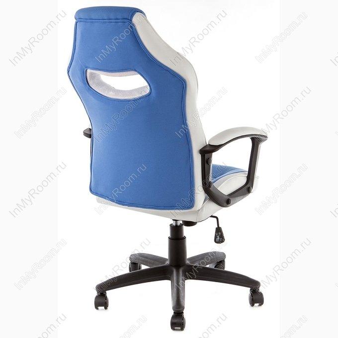 Компьютерное кресло Gamer бело-синего цвета
