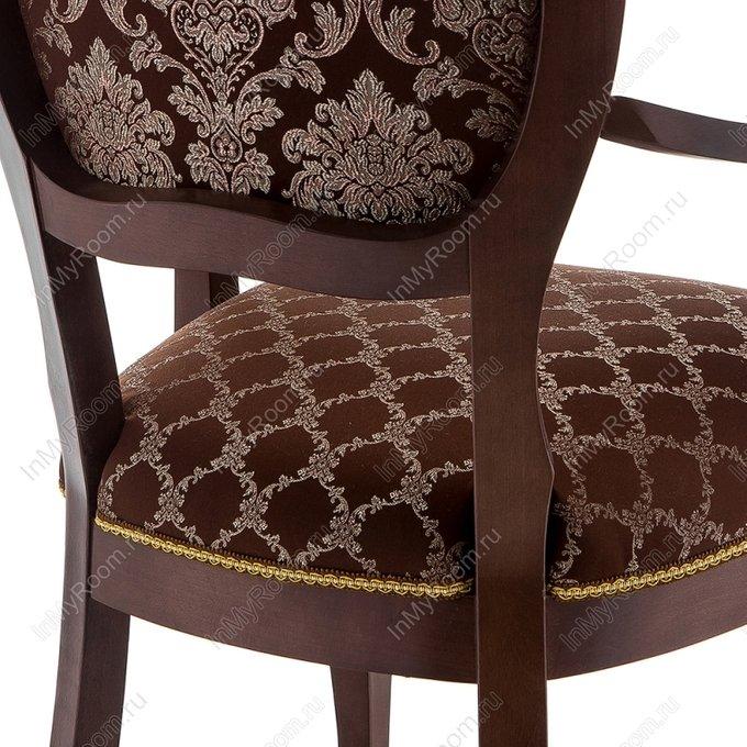Обеденный стул Лауро с обивкой шоколадного цвета