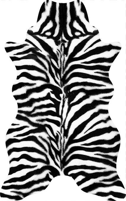 Ковер черно-белого цвета 80х120 см