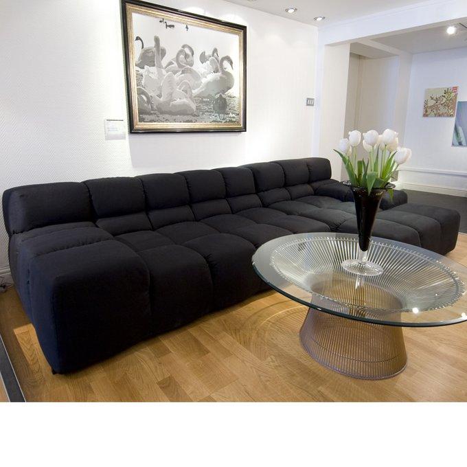 Угловой диван Tufty-Time Sofa черного цвета