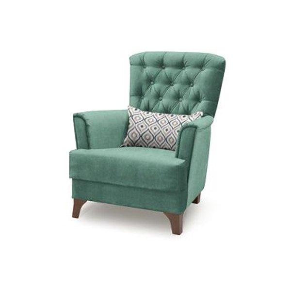 Кресло Ирис зеленого цвета