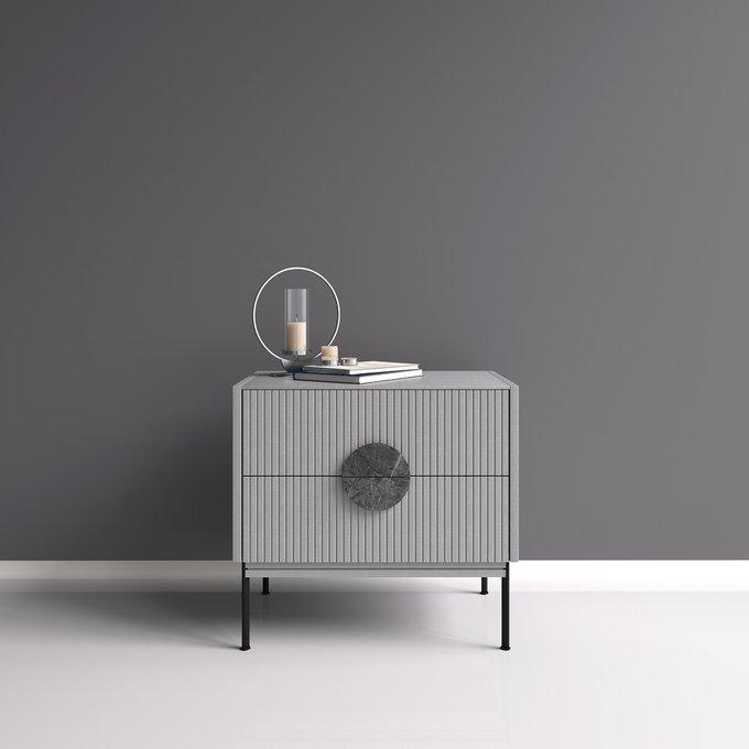 Тумба Alto с ящиками серого цвета