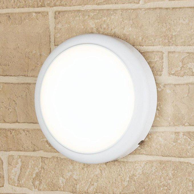 Уличный настенный светодиодный светильник Elektrostandard  Imatra белый
