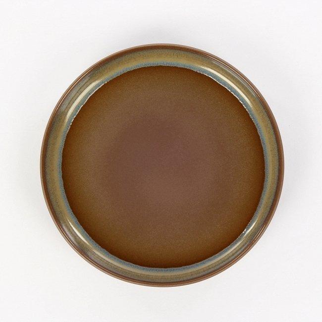 Тарелка Auberge коричневого цвета