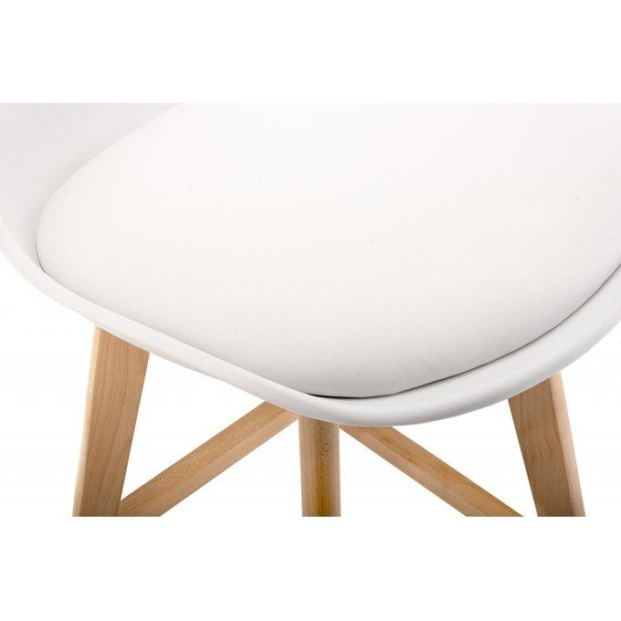 Барный стул Burbon белого цвета