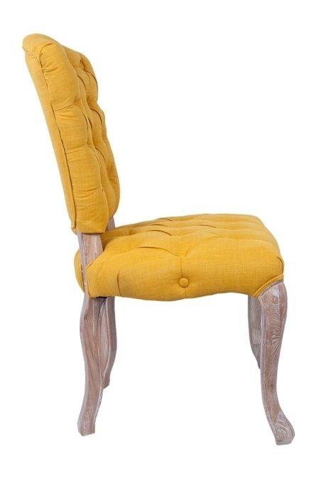 Стул Gamila Yellow с мягкой обивкой