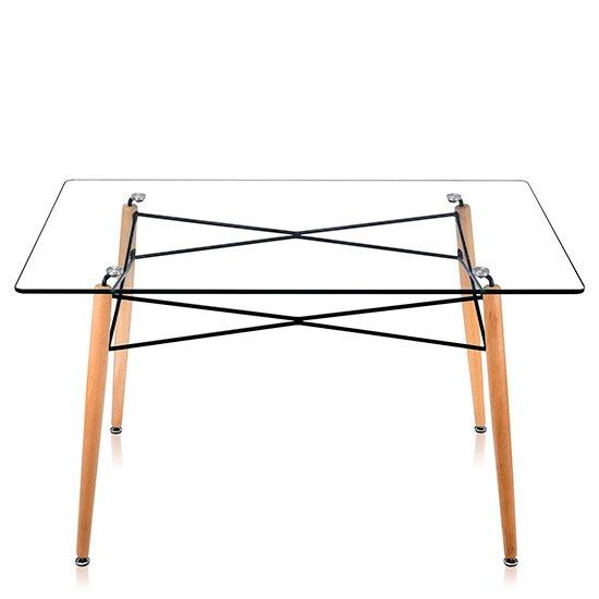 Стол Rectangle со стеклянной столешницей