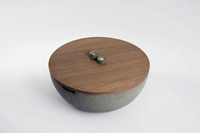 Журнальный столик Авиапарк с деревянной столешницей