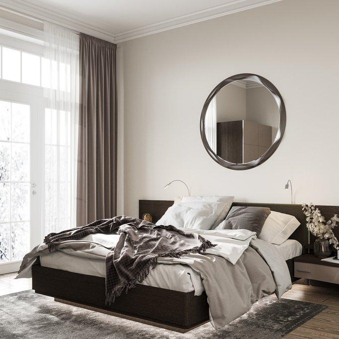 Двуспальная кровать Элеонора с верхней и нижней подсветкой 140х200