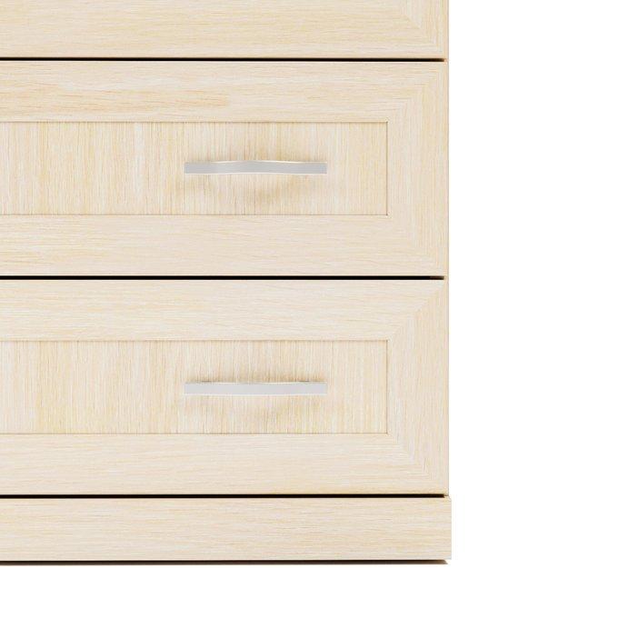 Комод Магна бежевого цвета с восемью ящиками