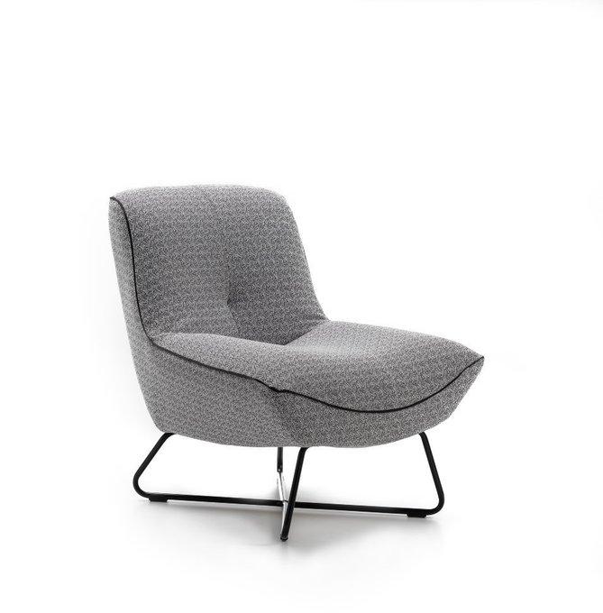 Современное кресло для отдыха Rico Prince серого цвета