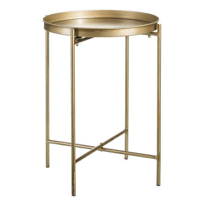 Стол кофейный золотого цвета