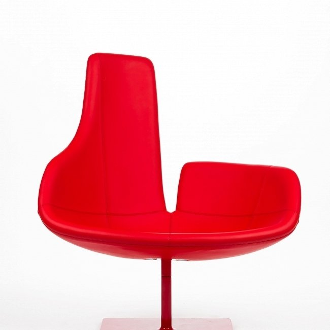 Кресло Fjord красного цвета