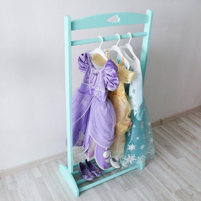 Детская напольная вешалка-стойка бирюзовая