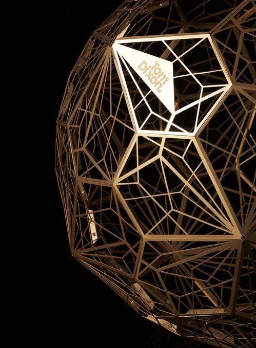 Подвесной светильник Etch Web   gold