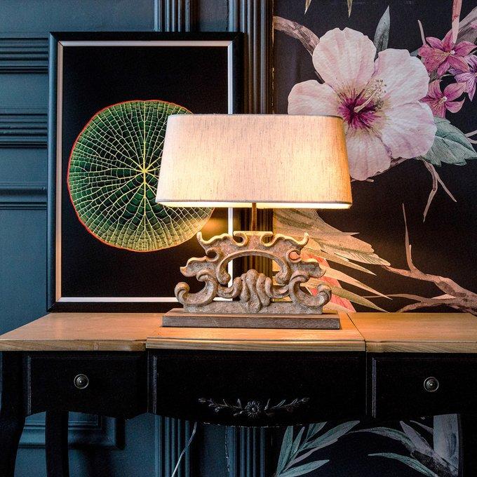 Настольная лампа Ланже с белым абажуром