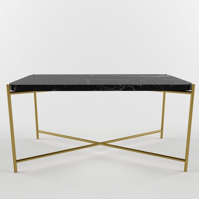 Журнальный столик с мраморной столешницей KRIT narrow gold