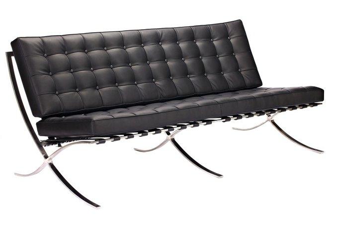 """Диван """"Barcelona Sofa"""" Черная Экокожа"""