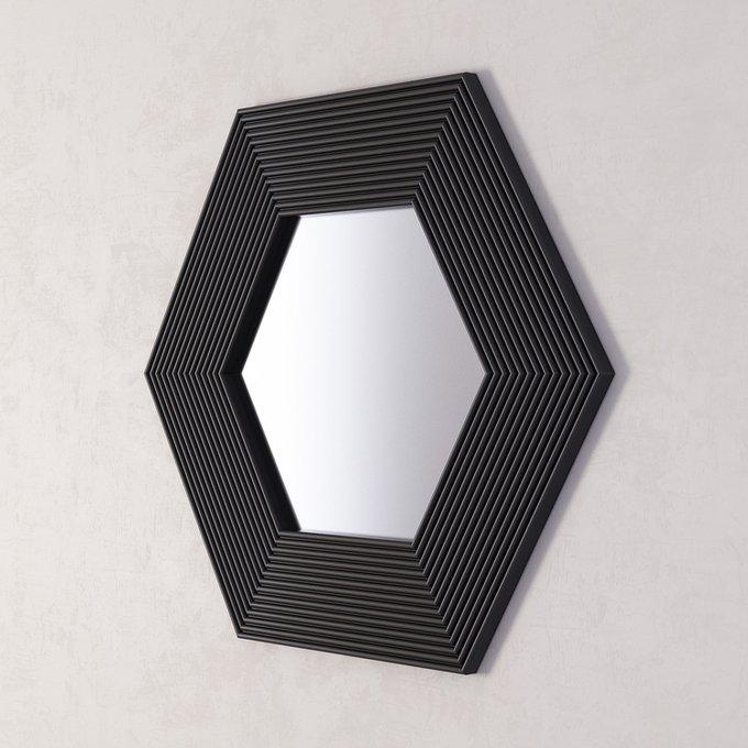 Зеркало Сorners black в черной раме