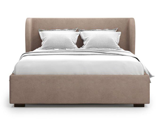 Кровать Tenno 140х200 светло-коричневого цвета с подъемным механизмом