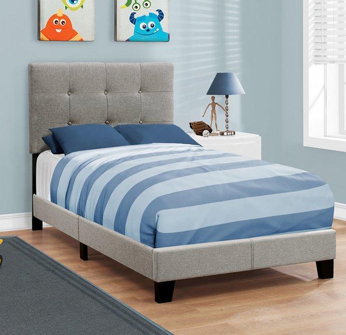 Кровать Gray Linen бежевого цвета 90х200