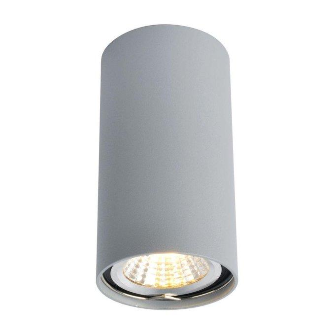 Потолочный светильник из металла серого цвета