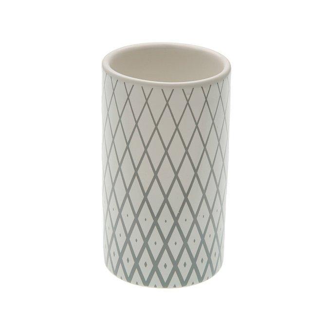 Керамический стакандлязубныхщеток серого цвета