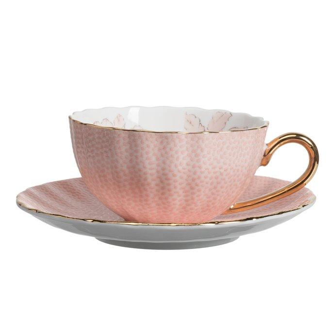 Чайная пара с цветами Arista Розовая