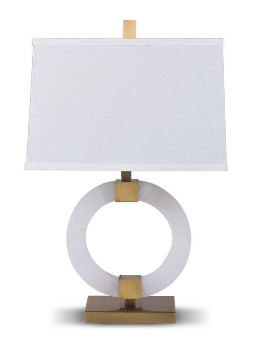 Настольная лампа Blackpool с белым абажуром