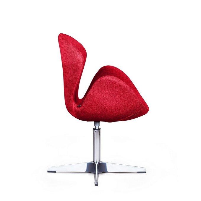 Лаунж кресло Swan красного цвета