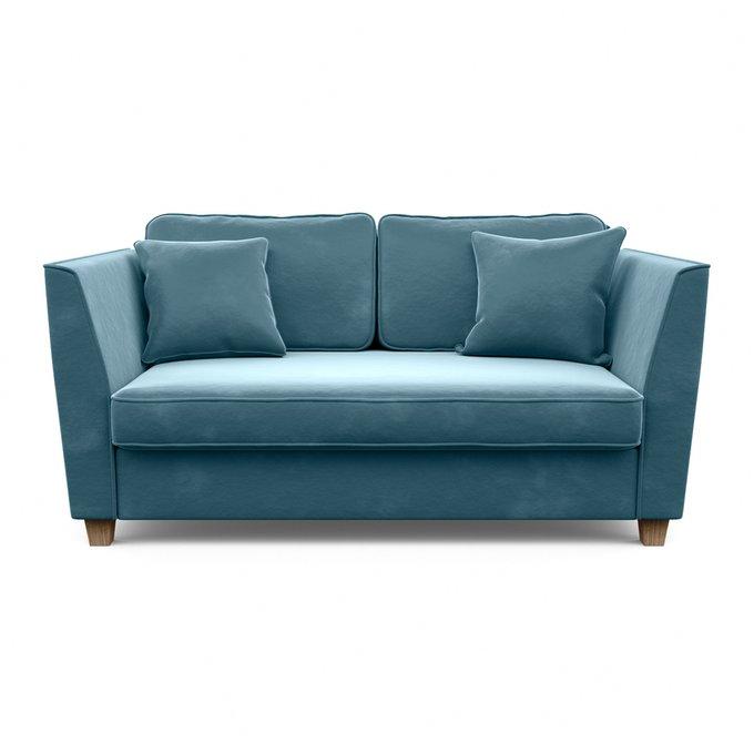 Трехместный диван Уолтер L голубого цвета