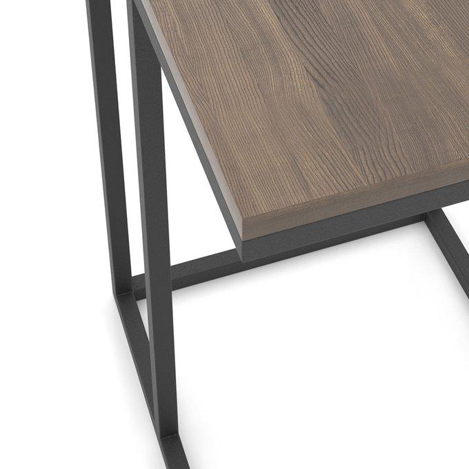 Приставной столик Loft  со столешницей орехового цвета