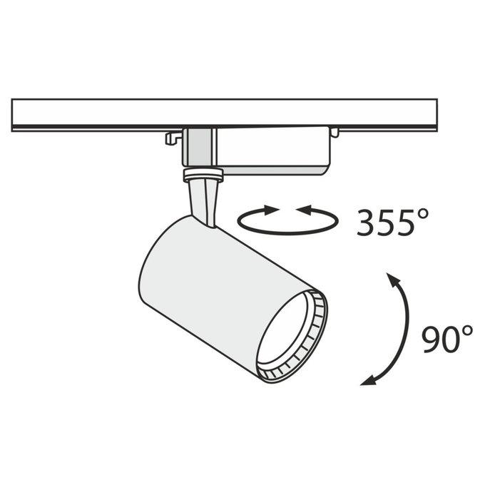Трековый светодиодный светильник Track белого цвета