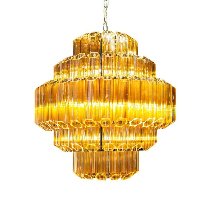 Подвесная люстра Vittoria янтарного цвета