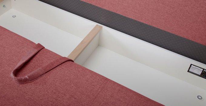 Прямой диван-кровать Иден красного цвета