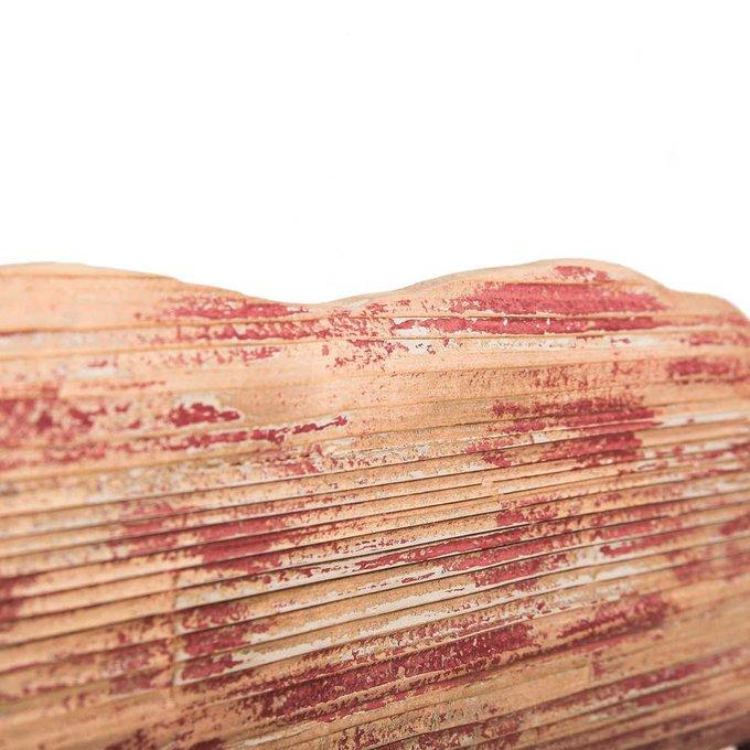 Настенная вешалка из металла и дерева