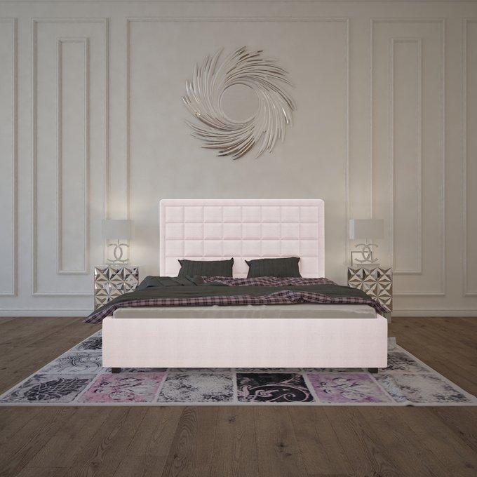 Кровать Elizabeth Велюр Пыльная роза 160х200