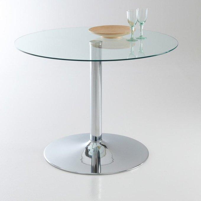 Круглый обеденный стол Janik из закаленного стекла